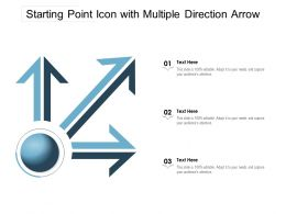 Starting Point Icon With Multiple Direction Arrow