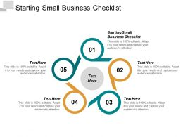 Starting Small Business Checklist Ppt Powerpoint Presentation Layouts Clipart Cpb