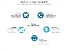 Startup Budget Template Ppt Powerpoint Presentation Outline Slide Cpb