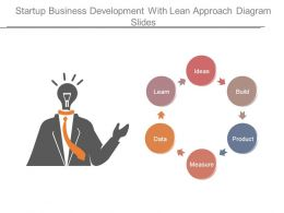 Startup Business Development With Lean Approach Diagram Slides