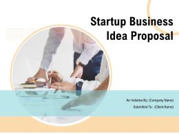 Startup Business Idea Proposal Powerpoint Presentation Slides