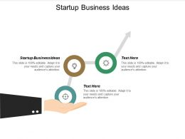 Startup Business Ideas Ppt Powerpoint Presentation File Gridlines Cpb