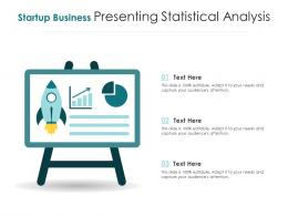 Startup Business Presenting Statistical Analysis