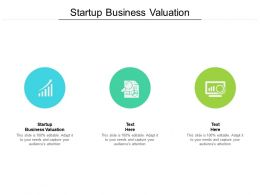 Startup Business Valuation Ppt Powerpoint Presentation Summary Cpb