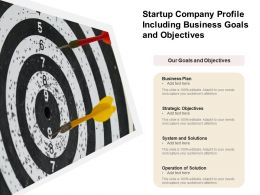 Startup Company Profile Including Business Goals And Objectives