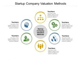 Startup Company Valuation Methods Ppt Powerpoint Presentation Icon Mockup Cpb