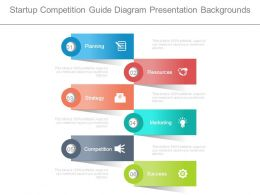 Startup Competition Guide Diagram Presentation Backgrounds