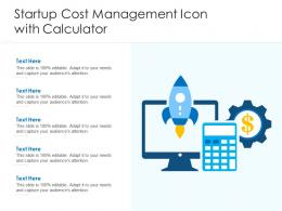 Startup Cost Management Icon With Calculator