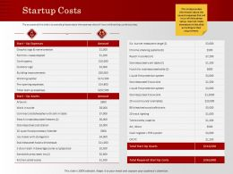 Startup Costs Bleached Wood Ppt Powerpoint Presentation Inspiration Templates