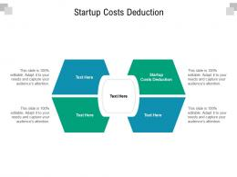 Startup Costs Deduction Ppt Powerpoint Presentation Summary Objects Cpb
