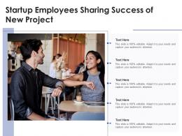 Startup Employees Sharing Success Of New Project