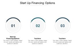 Startup Financing Options Ppt Powerpoint Presentation Infographics Visuals Cpb