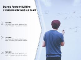 Startup Founder Building Distribution Network On Board