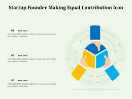 Startup Founder Making Equal Contribution Icon