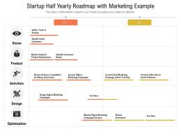 Startup Half Yearly Roadmap With Marketing Example