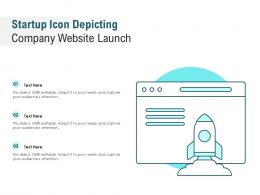 Startup Icon Depicting Company Website Launch