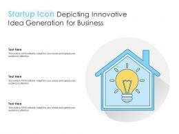 Startup Icon Depicting Innovative Idea Generation For Business