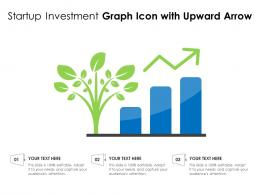 Startup Investment Graph Icon With Upward Arrow