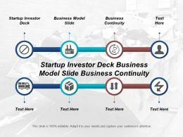 Startup Investor Deck Business Model Slide Business Continuity Cpb