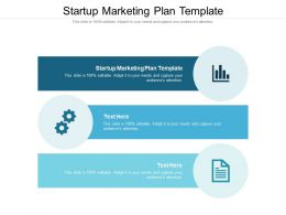 Startup Marketing Plan Template Ppt Powerpoint Presentation Ideas Layouts Cpb