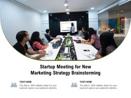 Startup Meeting For New Marketing Strategy Brainstorming