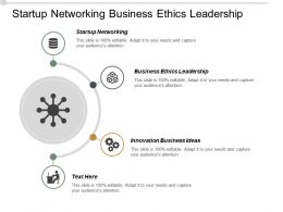 Startup Networking Business Ethics Leadership Innovation Business Ideas Cpb