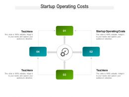 Startup Operating Costs Ppt Powerpoint Presentation Infographics Slide Cpb
