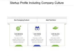 Startup Profile Including Company Culture