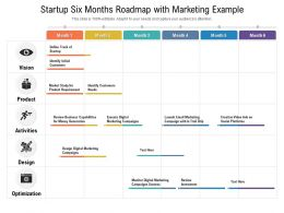 Startup Six Months Roadmap With Marketing Example