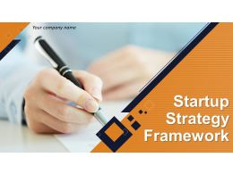 Startup Strategy Framework Powerpoint Presentation Slides