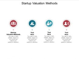 Startup Valuation Methods Ppt Powerpoint Presentation Professional Samples Cpb