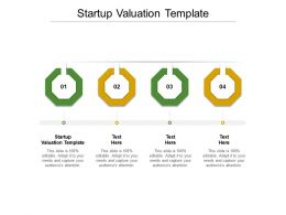 Startup Valuation Template Ppt Powerpoint Presentation Pictures Files Cpb