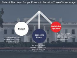 State Of The Union Budget Economic Report In Three Circles Image