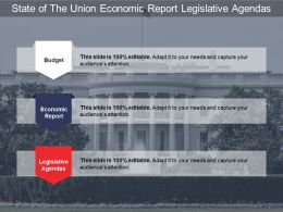 State Of The Union Economic Report Legislative Agendas