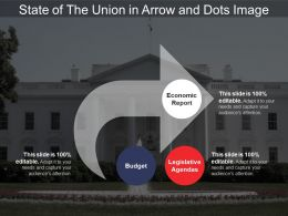 State Of The Union In Arrow And Dots Image