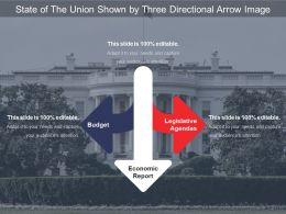 State Of The Union Shown By Three Directional Arrow Image