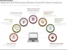 Statement And Performance Reviews Powerpoint Slide Introduction