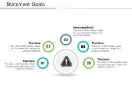 Statement Goals Ppt Powerpoint Presentation Gallery Background Images Cpb