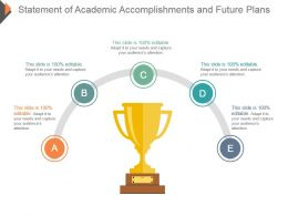 Statement Of Academic Accomplishments And Future Plans Ppt Icon