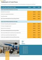 Statement Of Cash Flows Template 27 Presentation Report Infographic PPT PDF Document