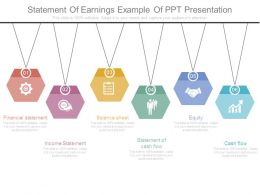 Statement Of Earnings Example Of Ppt Presentation