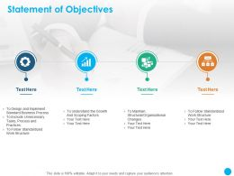 Statement Of Objectives Scoping Factors Ppt Powerpoint Presentation Visual Aids Outline