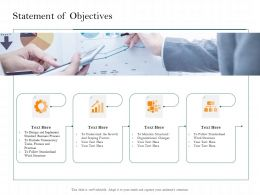 Statement Of Objectives Understand The Growth Ppt Powerpoint Presentation Styles Icons