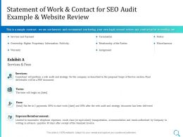 Statement Of Work And Contact For SEO Audit Example And Website Review Ppt Model