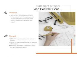 Statement Of Work And Contract Cont Insurance Payment Ppt Powerpoint Presentation Professional