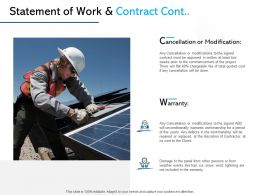 Statement Of Work And Contract Cont Ppt Powerpoint File