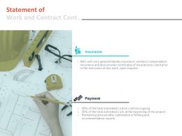 Statement Of Work And Contract Cont Ppt Powerpoint Presentation Model Designs
