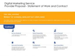 Statement Of Work And Contract Digital Marketing Service Provider Proposal Ppt Powerpoint Skills