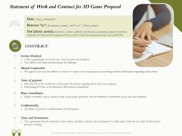 Statement Of Work And Contract For 3D Game Proposal Ppt Powerpoint Inspiration