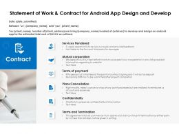 Statement Of Work And Contract For Android App Design And Develop Ppt Powerpoint Presentation